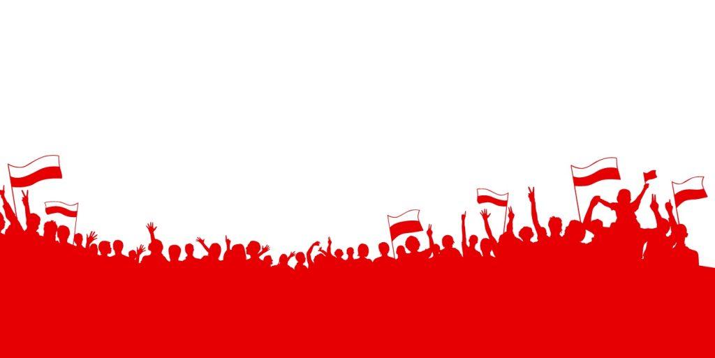 czerwony baner