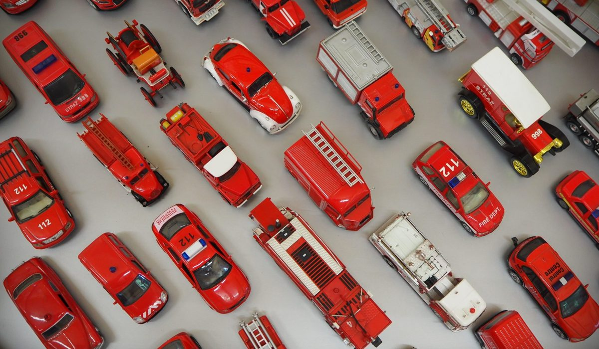 miniatury aut strażackich