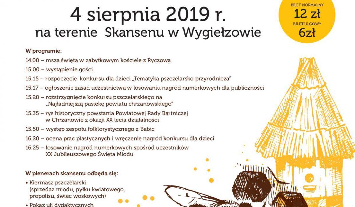 plakat miód 2019